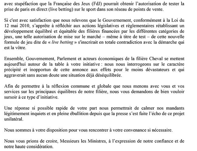L Affaire Du Live Betting Lettre Ouverte De La Federation